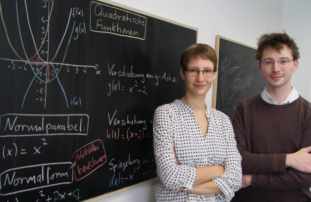 Anne und Matthias beim Abiturtraining Dresden